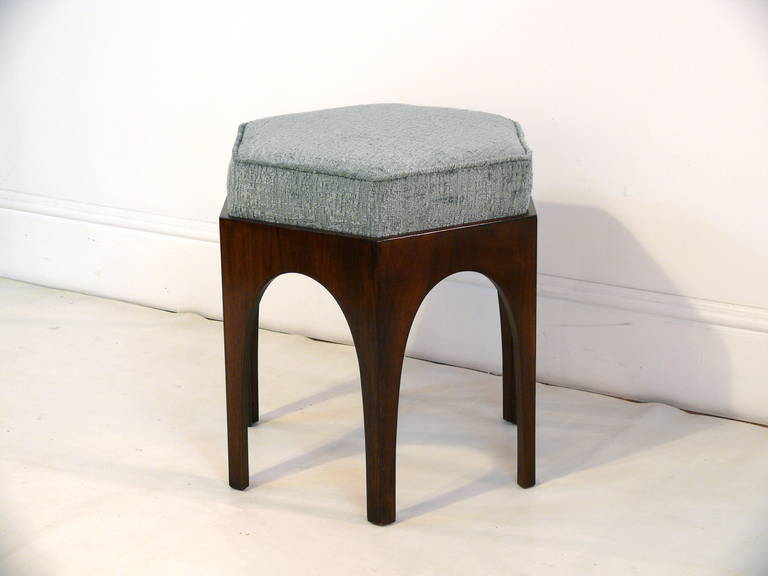 Банкетка Pair of Hexagonal Arched Stools or Ottomans