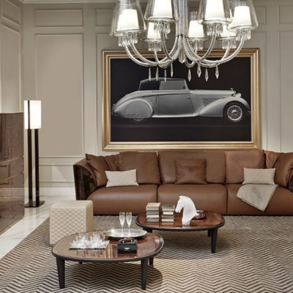Диван, стиль арт-деко, дизайн Bentley Home, модель Walton Rug