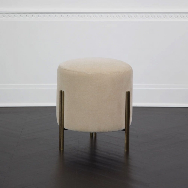 Банкетка KELLY WEARSTLER - MELANGE STOOL IN THE NEVADA BONE FABRIC