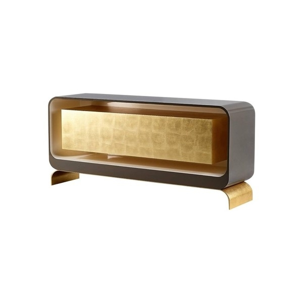 Буфет Lingot Smoke Sideboard, Contemporary Gold Leaf and Lacquer Sideboard