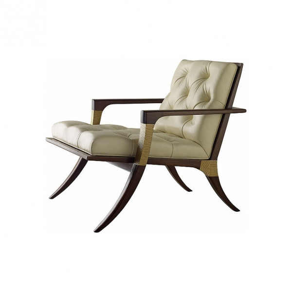 Кресло ATHENS LOUNGE CHAIR - TUFTED, дизайн Baker
