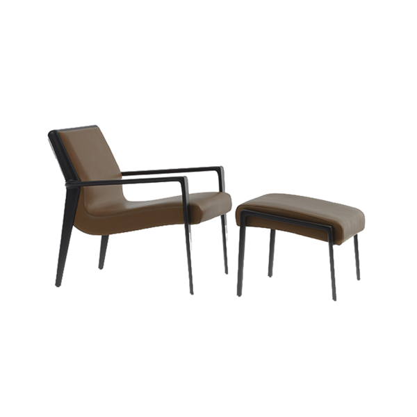 Кресло Nairobi Lounge Chair with Footstool, дизайн Fendi Casa
