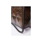 Буфет Faceted Two Door Oak Cabinet with Bronze Base