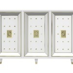 Буфет White Lacquered and Brass Credenza