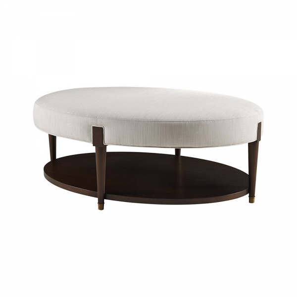 Банкетка ONDINE OVAL COCKTAIL BENCH, дизайн от компании Baker, дизайнер Barbara Barry
