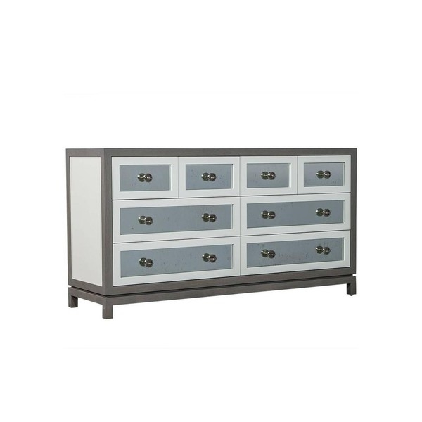 Буфет Custom Grey and White Eight Drawers Antique Mirrored Commode